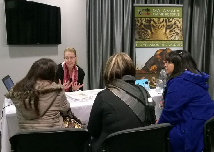 MalaMala presenting at the Exclusive Getaways Travel Workshop in Johannesburg, July 2014