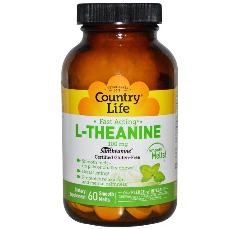 Buy Country Life, Gluten Free, L-Theanine, 100 mg, 60 Smooth Melts - Dietary Supplement for sale in Cheapest Online supplements shop megavitamins in Gold Coast, Brisbane & across Australia.