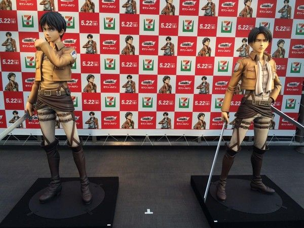 This is the first anime figure with a height of 172 cm and 162 cm. Wow! *titanClap #ShingekiNoKyojin