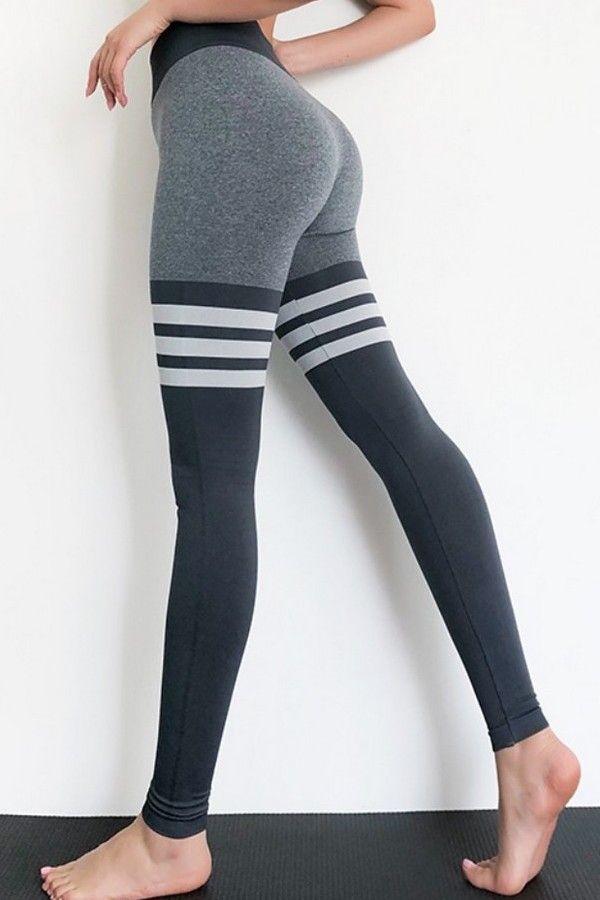 Polyester Spandex Seamless Womens Full Length Leggings