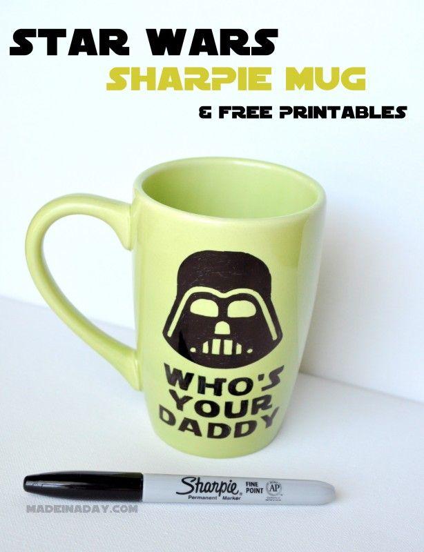 Star Wars Sharpie Mug FREE Printabes madeinaday.com