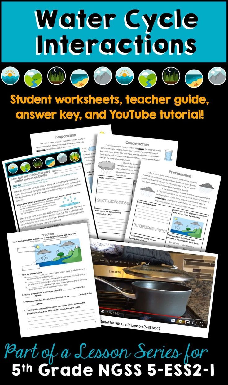 Video Tutorial Student Worksheets Teacher Guide And Answer Key To Introduce The Concept Of The Water Cycle Stu Ngss Engaging Science Lessons Teacher Guides