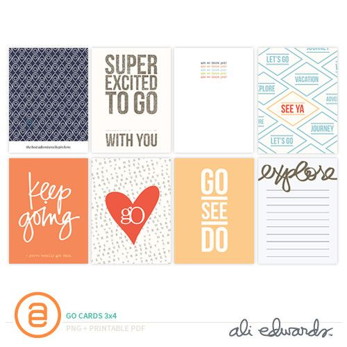 More Go 3x4 Journal Cards at Ali Edwards
