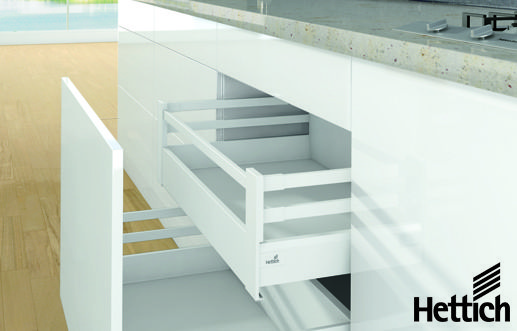 Add an internal drawer to your kitchen sit up. Here is the ArchiTech drawer in white with double railing. Click on the pin to find out more.