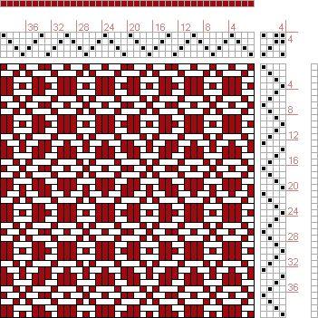 Hand Weaving Draft: Threading Draft from Divisional Profile, Tieup: P. Falcot: Traité Encyclopedique et Méthodique de la Fabrication Des Tissus, Draft #44979, Threading: Weber Kunst und Bild Buch, Marx Ziegler, (1677) # 27, Treadling: Weber Kunst und Bild Buch, Marx Ziegler, (1677) # 27, 4S, 4T - Handweaving.net Hand Weaving and Draft Archive