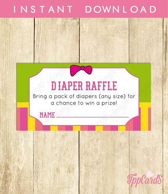Instant Download Frog Diaper Raffle Cards Printable For Girl Frog Baby Shower Games Pink Yellow Green Frog Theme Baby Shower Raffle by TppCardS #tppcards