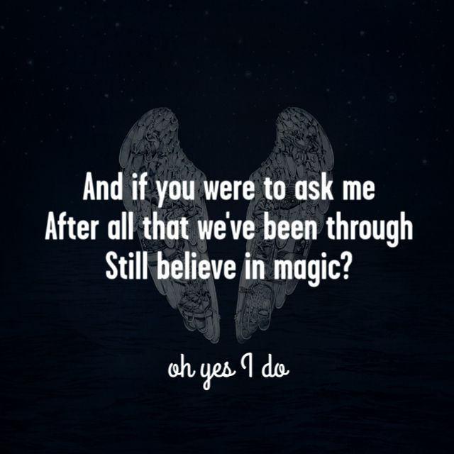 Coldplay - Magic. Dont get me wrong, Coldplay is an amazing band, but I only feel some of their song, and the other just confuses me. But this song, Magic, really got me. Line, hook and sinker. What a song.