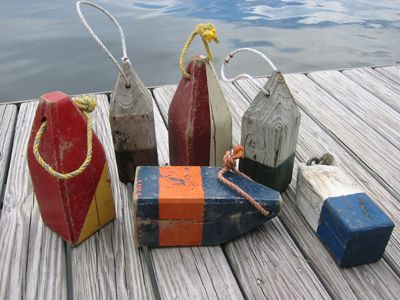 Wooden New England Lobster Trap Buoys - Inspiration for shape of table bases or barstools ...