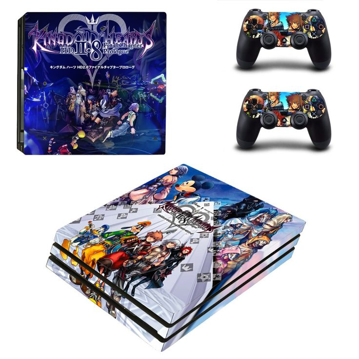 Kindom hearts Ps4 pro edition skin decal for console and controllers