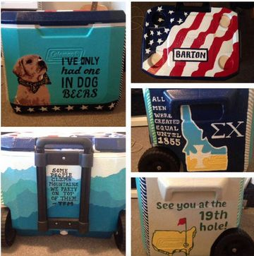"""dog beers"" 20 Fraternity Cooler Pictures to Inspire You This Formal Season 