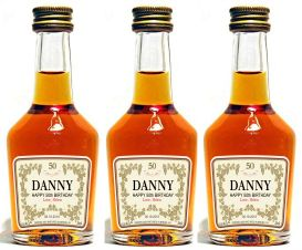 Personalized Mini Cognac Labels 50 Ml Hennessy Style
