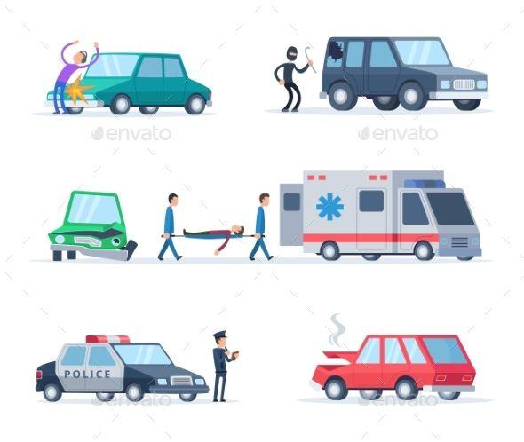 Accident On The Road Cars Damage Auto Repair Repair Auto