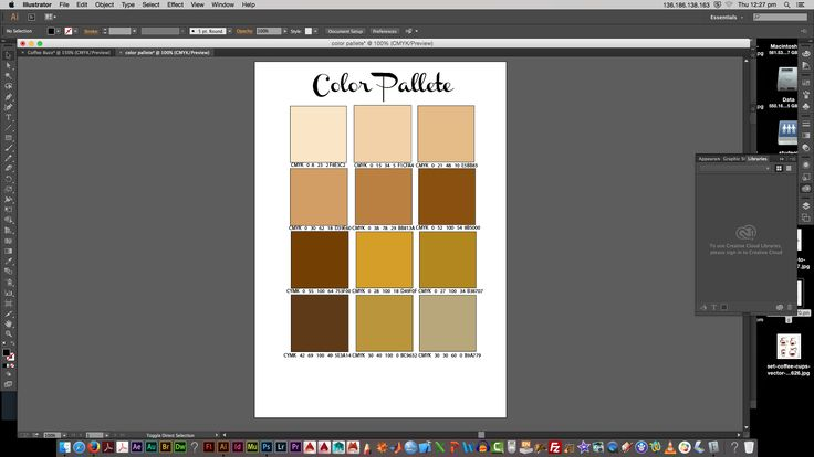 my color palette that i have chosen for my logo Coffee Buzz