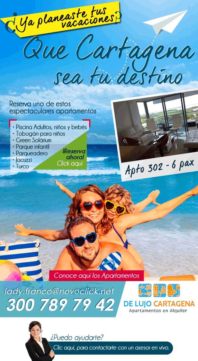 #Novoclick esta con #Alquiler de Apartamentos en Cartagena #Vive Tus Vacaciones Soñadas