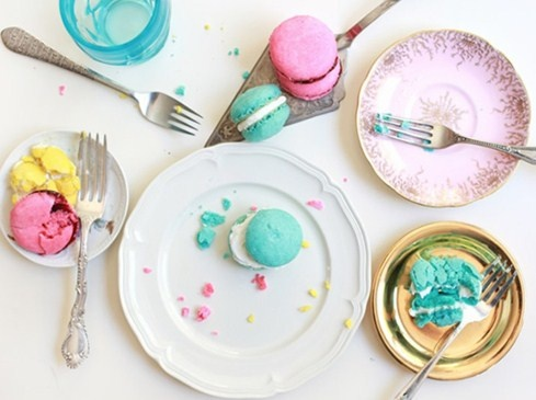 colorful macaron party
