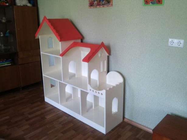Стеллаж для игрушек. Домик для кукол барби. Кукольный дом Белая Церковь - изображение 4