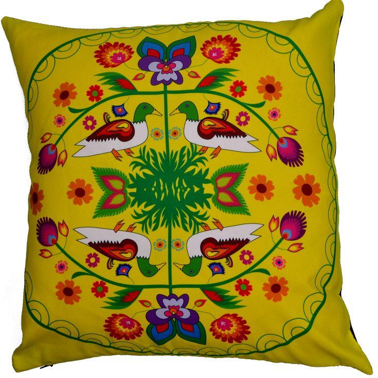 Designerska poduszka dekoracyjna Folk № gd414