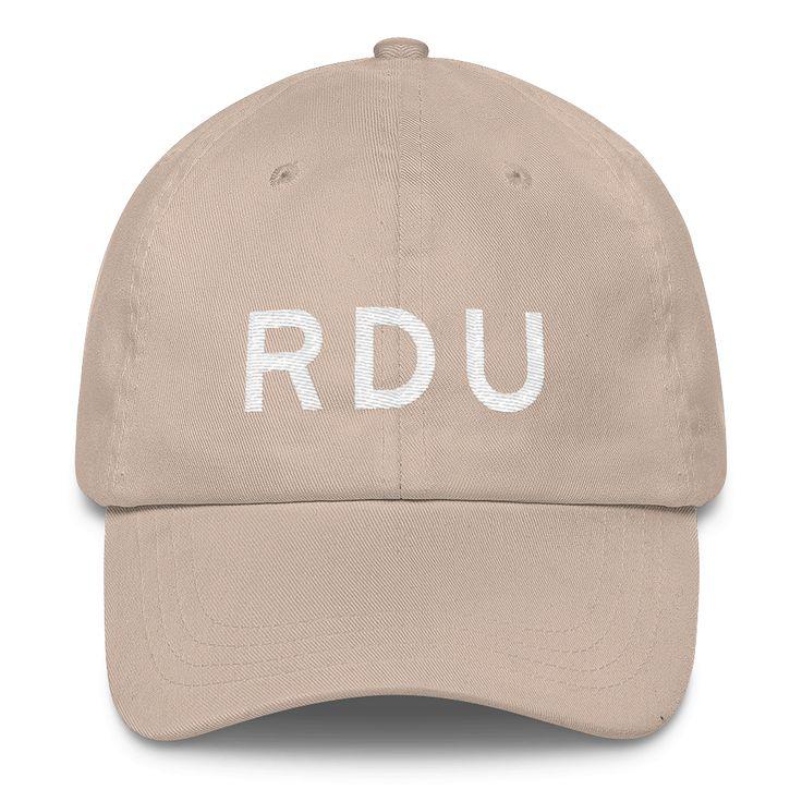 RDU Raleigh-Durham Airport Code Classic Dad Cap