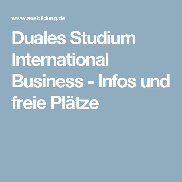 Duales Studium International Business - Infos und freie Plätze