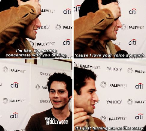 teen wolf - paleyfest 2015 - dylan o´brien and tyler posey