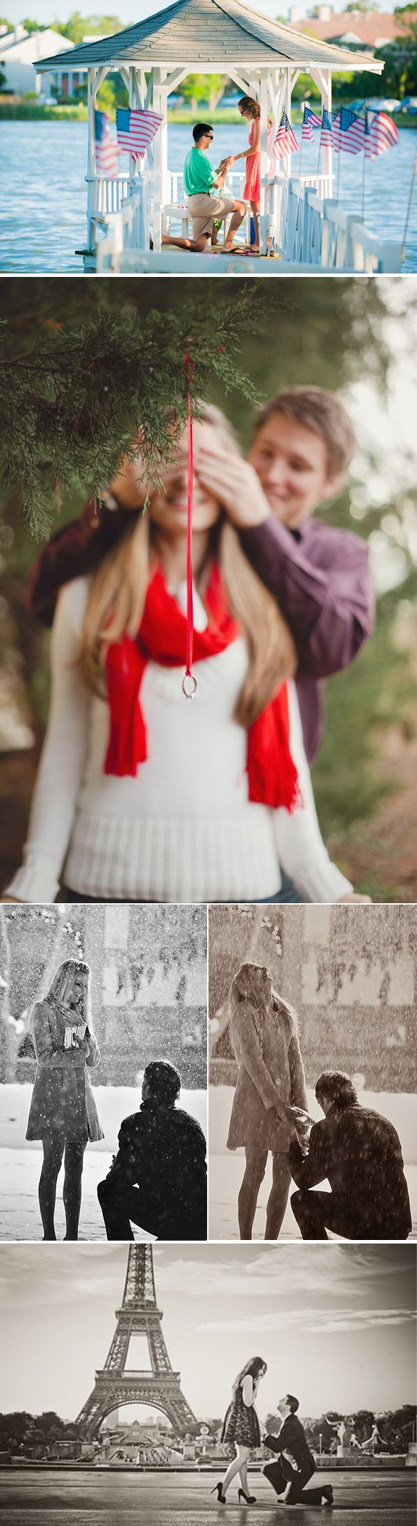 Secret photographers during the proposal! I love this!