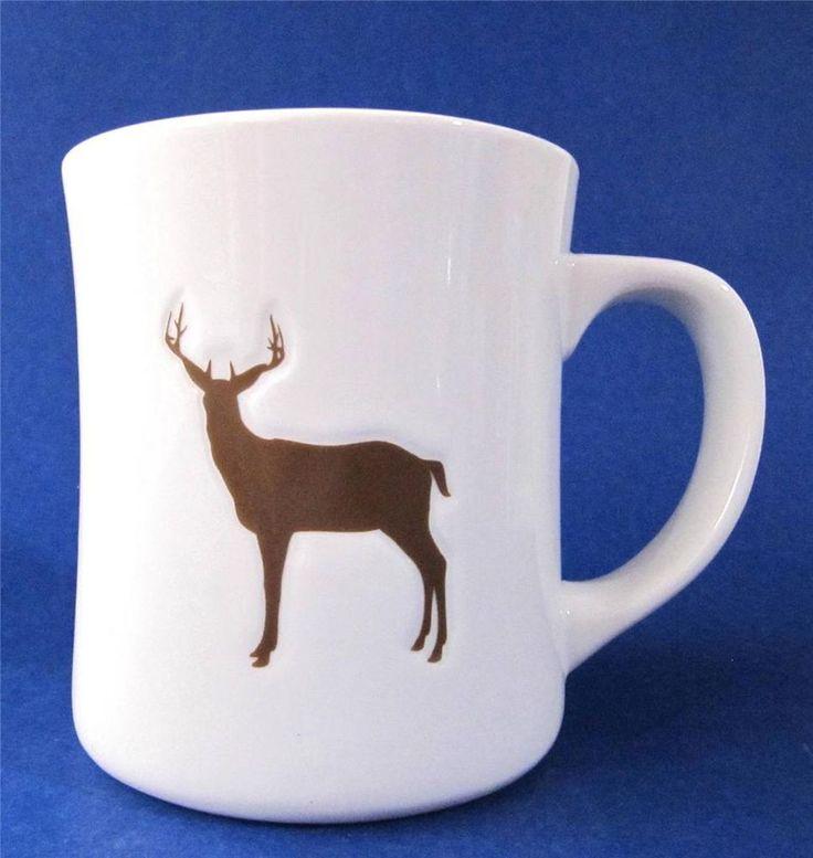 Starbucks Coffee Mug Cup 2008 Stag Buck Deer 12 oz. White Brown $19.99