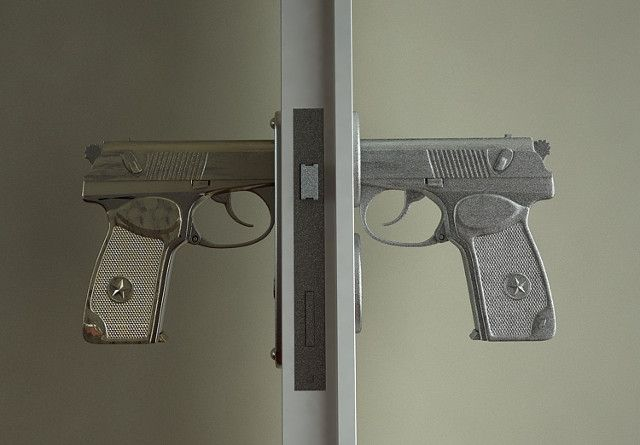 Gun Grip Door Handles