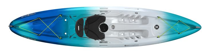 Perception Kayak Tribe Sea Spray, Blue/White, Size 9.5