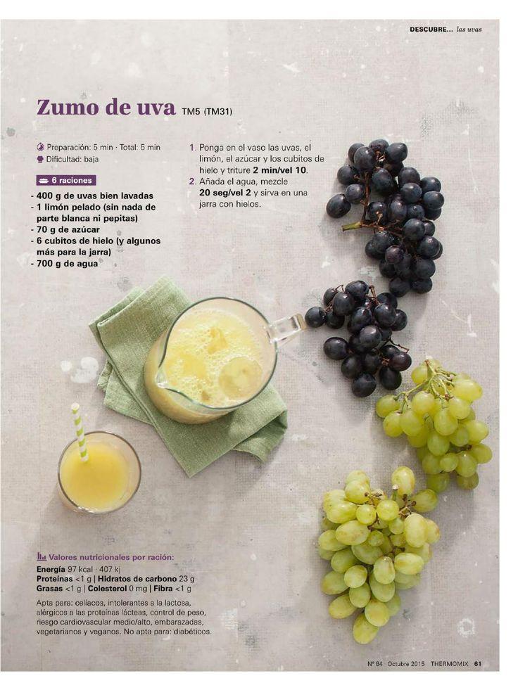 Zumo de uvas thermomix