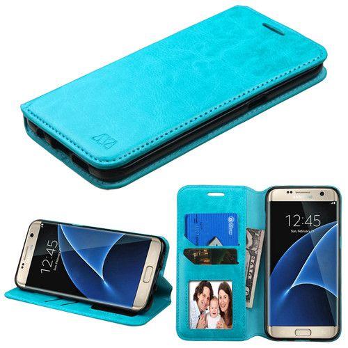 flip samsung galaxy s7 case blue