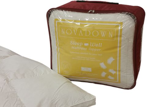 Novadown / Sleep Well Mattress Topper - gives your back the extra support it needs to relax #bedding, # mattress