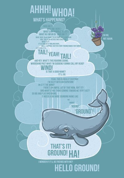 Petunia and whale by Stephanie Wittenberg. Hitchhiker's Guide to the Galaxy