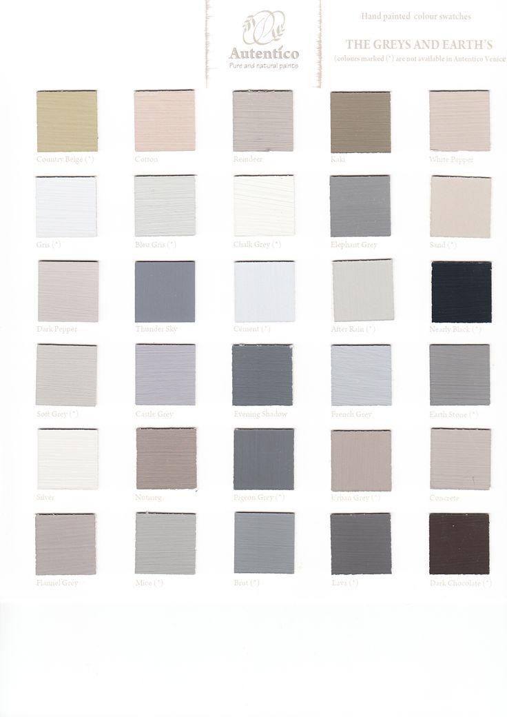 16 Best Color Charts Autentico Vintage Chalk Paint Kolory Autentico Wzorniki Images On