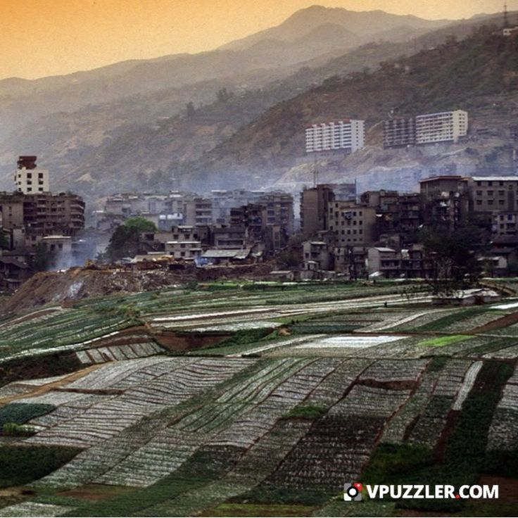 City in China #Asia #landscape #stockphoto #agroculture