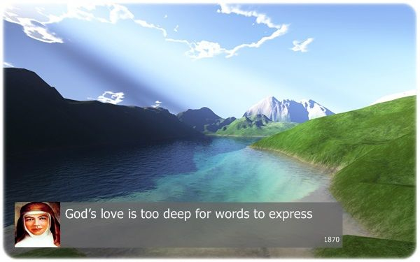 God's love is too deep for words to express