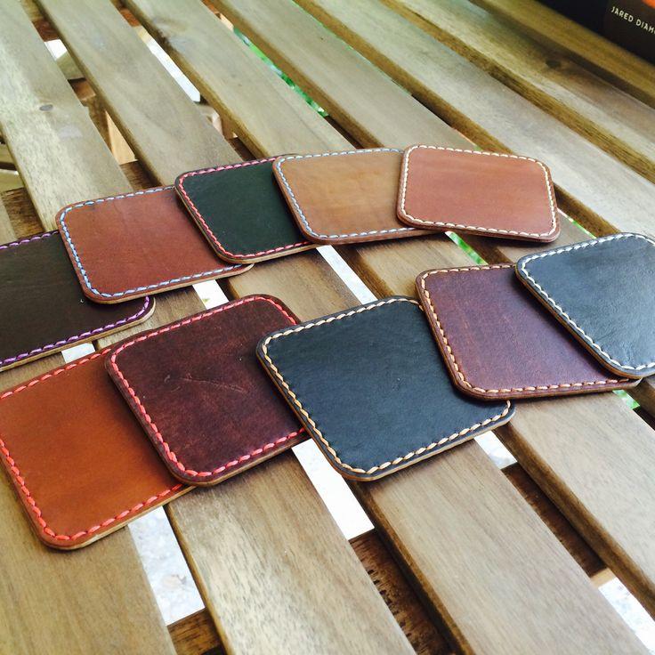 Handmade leather Coasters dispaching.