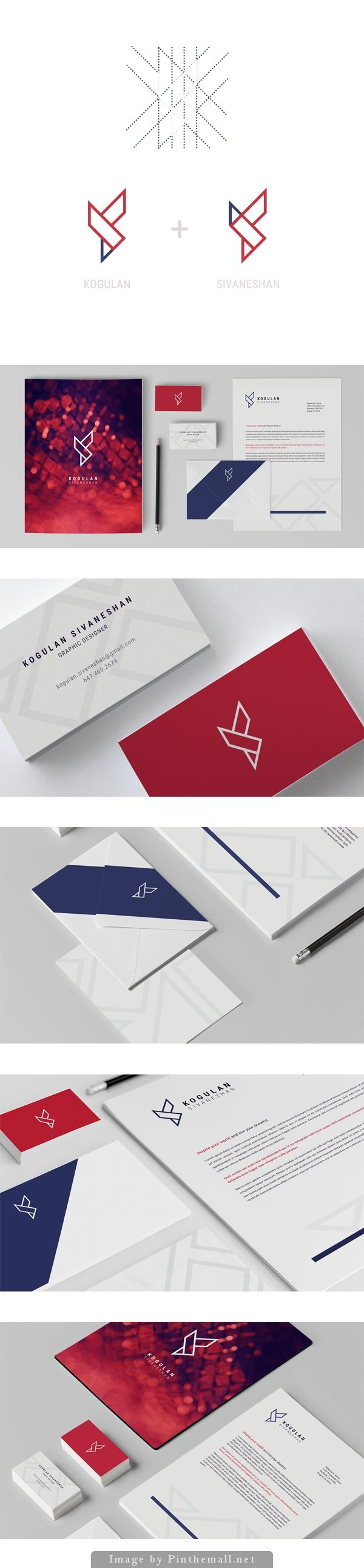 Corporate Design // Rot / Blau / Logo