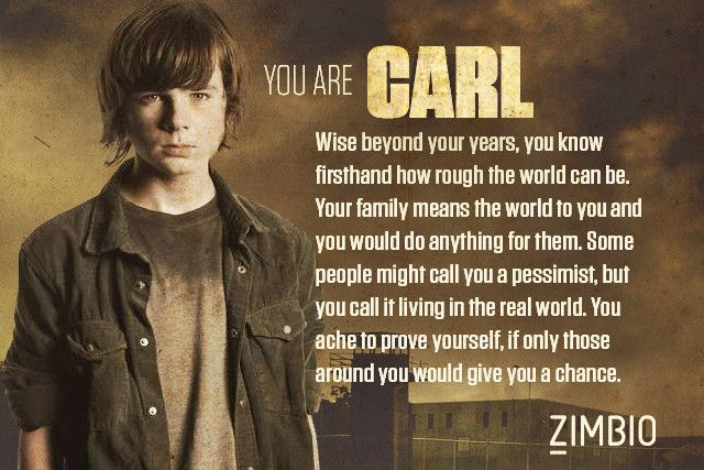 I took Zimbio's 'Walking Dead' quiz and I'm Carl! Who are you? #ZimbioQuiznull - Quiz