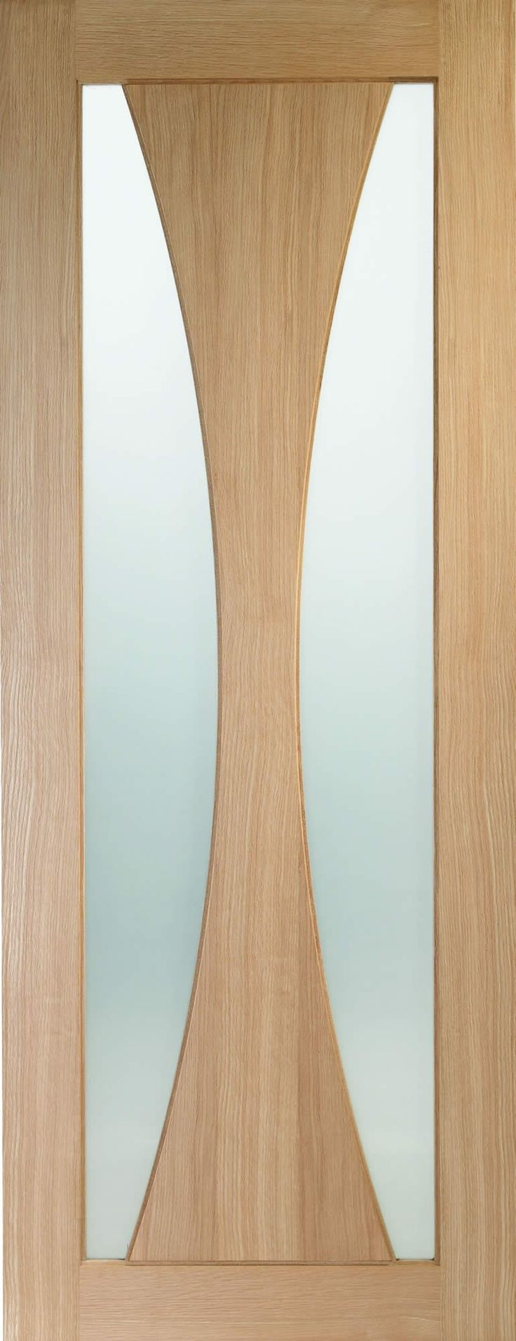 Verona Oak Internal Clear Glazed Fire Door (FD30) - Kaybee Doors