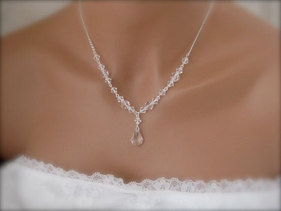 Bridal Necklace Earrings Wedding Jewelry Swarovski crystal Bridal jewelry set