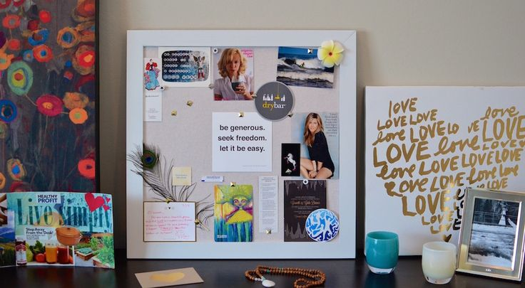 The article explains why vision boards work and provides tips about how to create one. Enjoy!