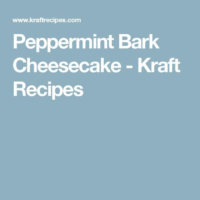 Peppermint Bark Cheesecake - Kraft Recipes
