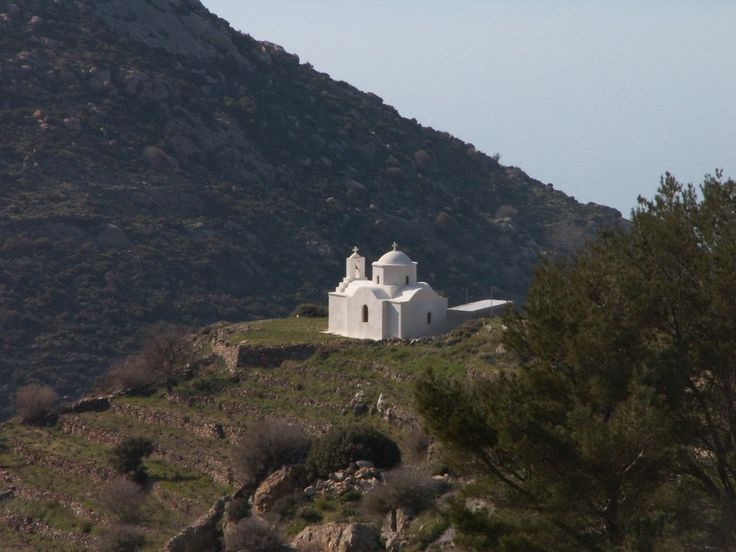 We ♥ Greece | Small country church on top of the hill, Naxos island #Greece #travel #explore #destination