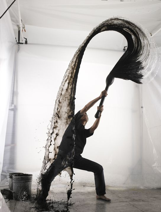 """Self-Portrait"", capturing inked water in movement by photograph Chinichi Maruyama, 2006"
