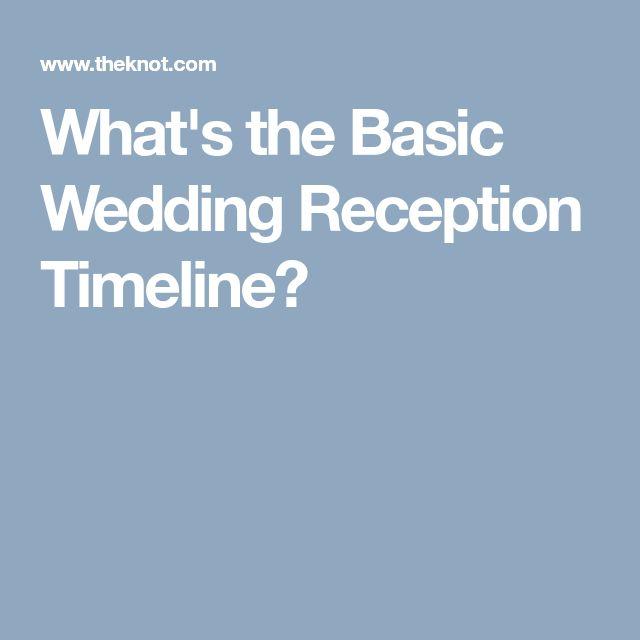reception timeline