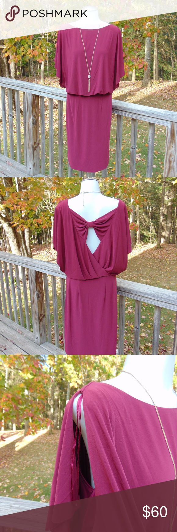 *NWT Size 12W Jessica Simpson Dress This gorgeous burgundy Jessica Simpson Dress is NEW WITH TAGS! The color of this dress goes PERFECT with all of the Fall colors! The only flaws are a few snags on one of the shoulders and a small snag on the front, very hard to see but 2 of the pics posted show the snags (bought like this). This dress has a very classy slit short sleeve, along with an adorable back with so much style! Knee length. Size: 12W Original Price: $118 *Sorry ladies, necklace not…