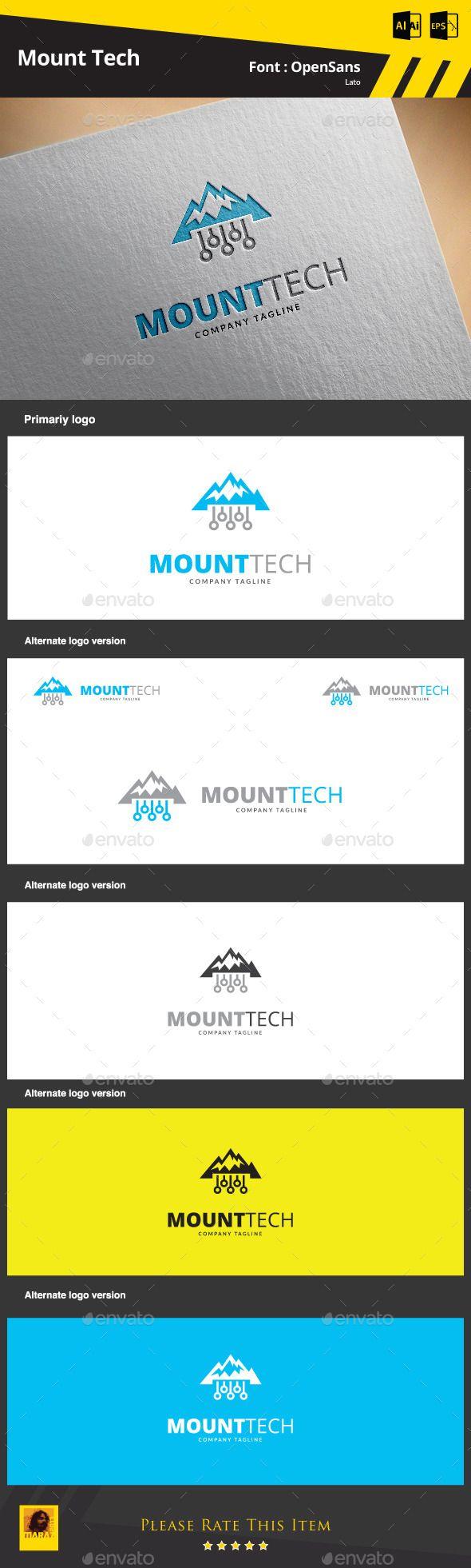 1548 besten game logo template bilder auf pinterest logo design mount tech logo template pronofoot35fo Images