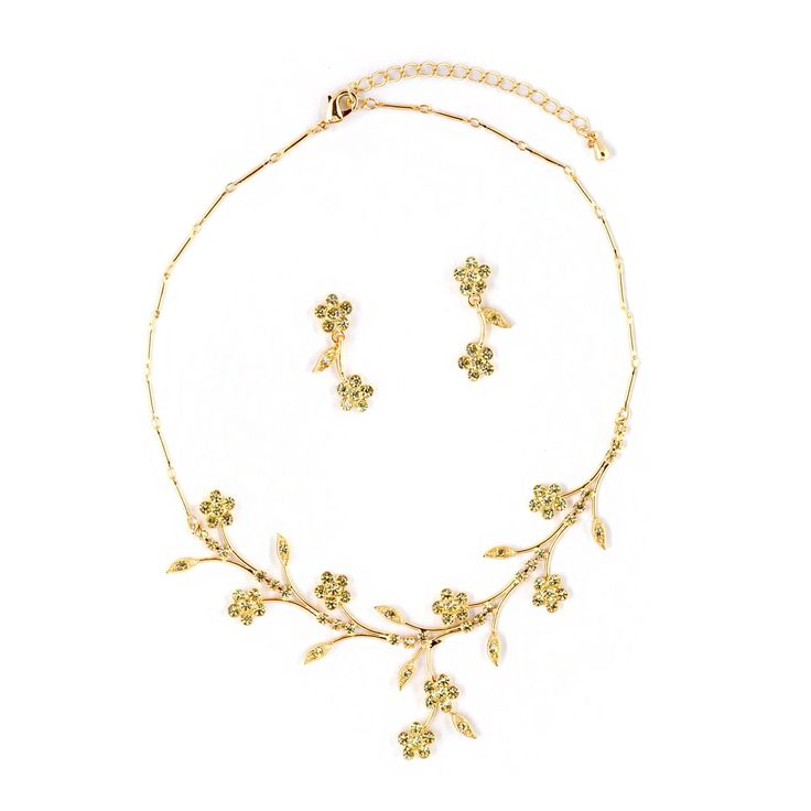Gold Jonquil Flower Neck Set