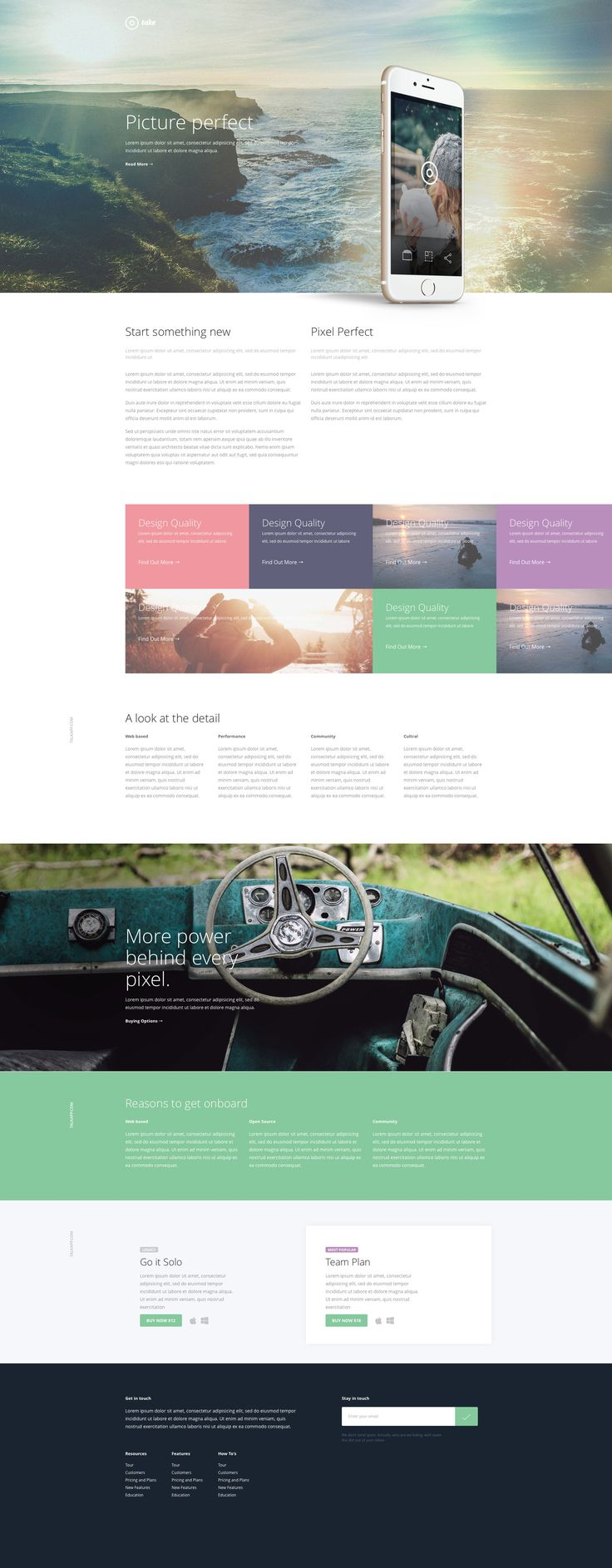 Take is a classy free one pager HTML5 template for a web or mobile app based application. Take template is using the responsive Twitter Bootstrap framework so it is easy to customise. Take is a fully responsive and Retina-ready HTML5 template.