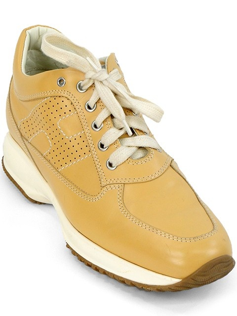 Hogan Shoes - Tan Leather Interactive Breathable Shoes Our Price: $114.95